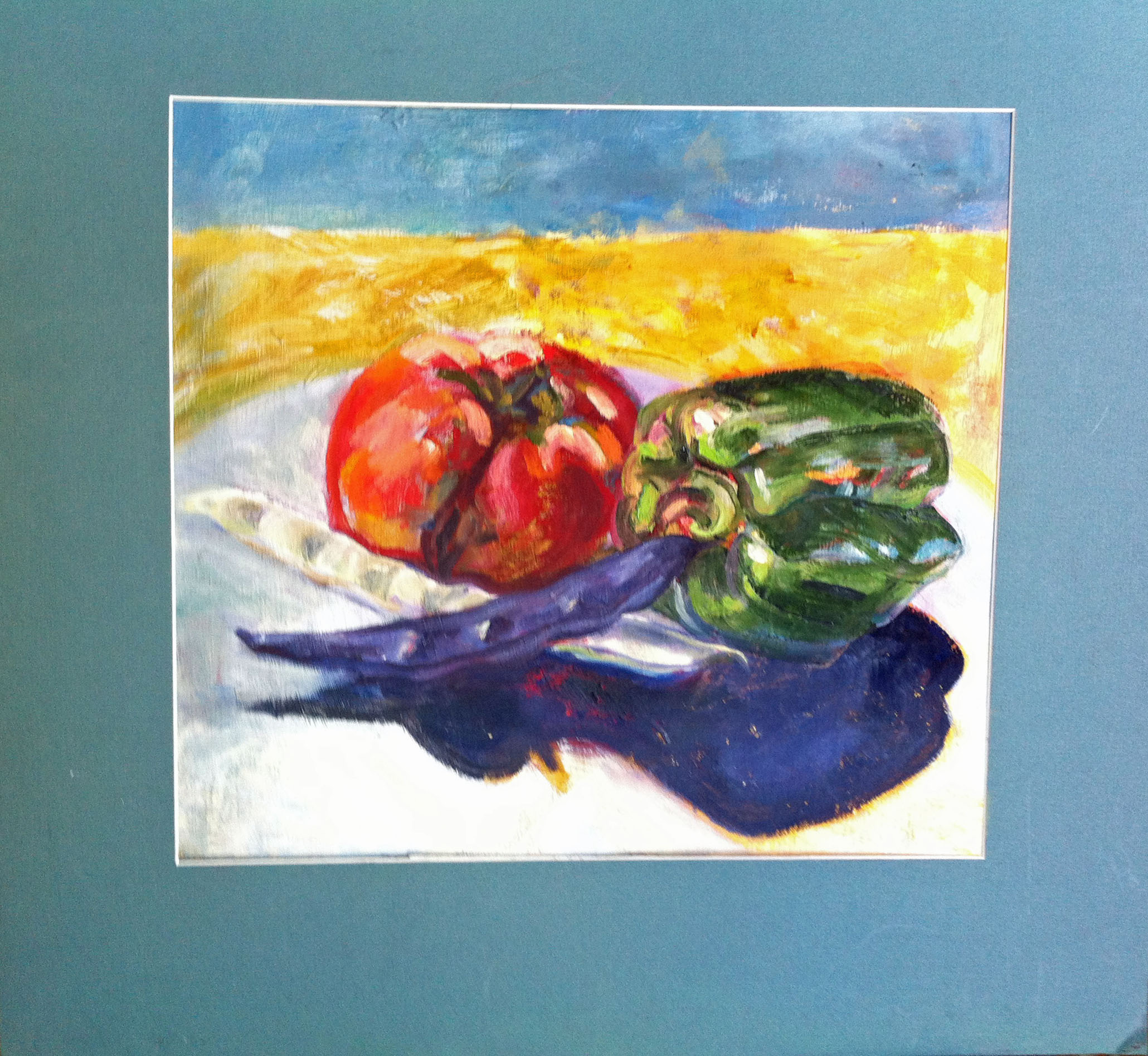 Peppers and Beans Oil on Gessoed Paper $250